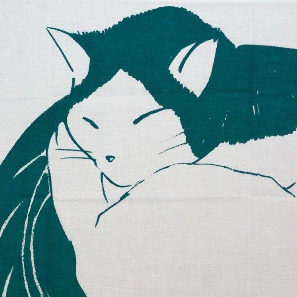 画像1: 手ぬぐい   osotono-neko -お外の猫- 手ぬぐい (1)
